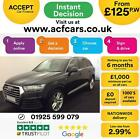 2015 BLACK AUDI Q7 30 TDI 272 QUATTRO S LINE DIESEL AUTO CAR FINANCE FR 125 PW