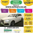 2016 WHITE AUDI Q7 30 TDI 272 QUATTRO S LINE DIESEL AUTO CAR FINANCE FR 134 PW