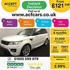 2013 WHITE RANGE ROVER SPORT 30 SDV6 AUTOBIOGRAPHY DYN CAR FINANCE FR 121 PW