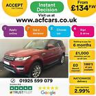 2015 RED RANGE ROVER SPORT 30 SDV6 HSE DIESEL AUTO CAR FINANCE FR 134 PW