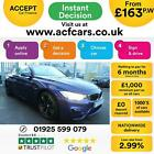 2016 BLUE BMW M4 30 T DCT 431 PETROL AUTO 2DR CONVERTIBLE CAR FINANCE FR 163PW