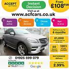 2014 SILVER MERCEDES ML350 30 CDI AMG LINE PREMIUM AUTO CAR FINANCE FR 108 PW