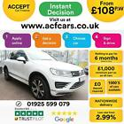 2015 WHITE VW TOUAREG 30 V6 TDI 262 BMT R LINE DIESEL CAR FINANCE FR 108 PW