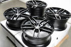 19 5x1143 Staggered Black Wheels Fits Mustang 370z G37 Is250 Is350 5 Lug Rims