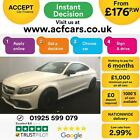 2016 WHITE MERCEDES C63 AMG S 40 510 BHP PREMIUM COUPE CAR FINANCE FR 176 PW