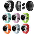 For Garmin Fenix 5S Sport Replacement Silicone Strap Watch Band  2*Dust Plug