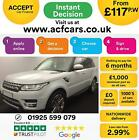 2015 WHITE RANGE ROVER SPORT 30 SDV6 HSE DIESEL AUTO CAR FINANCE FR 117 PW