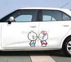 Hello Kitty Sweet Kiss Cute Paperclip Cover Scratches Reflective Car Stickers