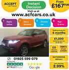 2016 RED RANGE ROVER SPORT 30 SDV6 AUTOBIOGRAPHY DYN CAR FINANCE FR 167 PW