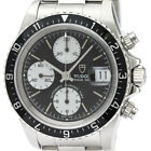 Polished TUDOR Chrono Time Oyster Date Steel Automatic Mens Watch 79270 BF339688