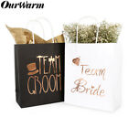 6x Groomsmen Bridesmaid Gift Bags Hen Party Bridal Wedding Favour Paper Gift Bag