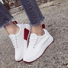 US 8 Women White Sneakers Sport Breathable Casual Outdoors Running Walking Shoes