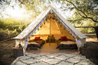 6M Waterproof Bell Tent Outdoor Hunting Glamping Canvas Camping Tent Yurt Teepee