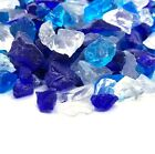 Cobalt Blue Clear 1 2 1 Premium Large Fire Glass for Fireplace and Fire Pit