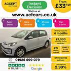 2017 SILVER VW UP 10 MPI 75 BMT HIGH UP PETROL 5DR AUTO CAR FINANCE FR 33 PW
