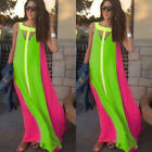 USA Women Summer Boho Long Maxi Evening Party Dress Beach Dresses Chiffon Dress