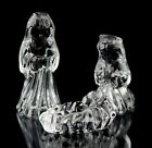 Waterford Crystal Marquis Miniature Nativity Holy Family Set of 3 Original Box