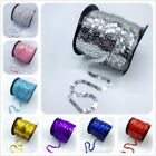 5Yards 6mm Sequins Shiny Faceted Loose Sequins Paillettes Sewing Wedding Crafts