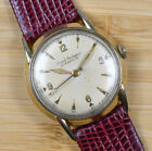 Vintage GIRARD PERREGAUX Gyromatic Gold Filled Automatic Mens Watch Leather Band