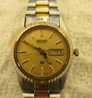 SEIKO, pre-owned, lady's day date, water resistant stainless steel,new battery