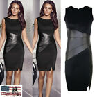 Womens Office Formal Business Work Party Bodycon Slim Sleeveless Pencil Dress