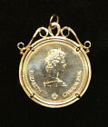 14KT Decorative Bezel with 1976 Canada $100 Gold Olympic Coin. Ch. BU