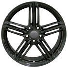 Wheel For 2007 2009 Volkswagen Rabbit Aluminum Rim 18 5 lug 112mm Black 18x8