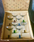 Very Rare Set of Vtg Czech Mid Century Tirol Lotz Colored Cocktail Glasses