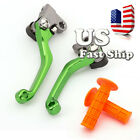 USA Brake Clutch Pivot Lever+Grip For Suuzki RM125 RM250 04-08 Kawasaki KX250 08