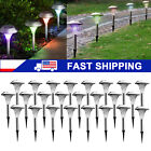 Solar Power Color Changing LED Lights Stainless Steel Lamps Outdoor Garden Lawn