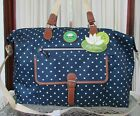 Lily Bloom Polka Dot Fiona Weekender Travel Carry on Bag Duffel NWT