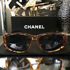 Vintage Chanel Sunglasses Gold Brown Tortoise Frames VERY RARE