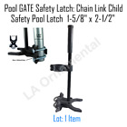 Pool GATE Safety Latch Chain Link Child Safety Pool Latch 1 58 x 2 38 black