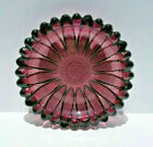 Vintage Hazel Atlas Purple Glass Daisy Sunflower Ashtray Trinket Dish 5 1/2