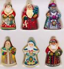 2006 Santas From Around the World Hallmark Miniature Ornaments 6 Total BOXED