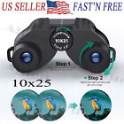 10x25 Compact Binoculars for Adults Kids Light weight High Powered Binoculars