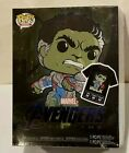 Funko POP HULK GITD Tees Avengers Endgame HOT TOPIC Exclusive SEALED NEW MEDIUM
