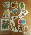 Vintage 80s Stickers Puffy Cute Animals Sports Related