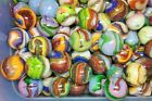 50 D.A.S. COLOR STORM Mint Marbles Gorgeous Hand Picked Lot Lutz Frit Aventurine