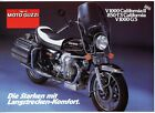 Moto Guzzi 850 T3/V1000 California, V1000 G5 brochure Prospekt,1981(German Text)