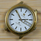 Vintage MOVADO Electronic Tuning Fork Gold Plated Men's Watch FOR REPAIR PARTS