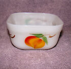 OLD Fire King Gay Fad Square Milk Glass Oven Refrigerator Dish 4X4X2 Oven Ware