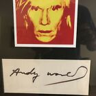 Andy Warhol Autograph Signed Large Signature PSA DNA Authentic Framed