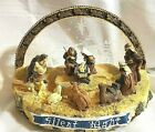VTG Nativity Scene Lighted Christmas Holiday Ceramic Silent Night Table Decor