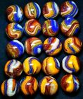 20 D.A.S. COLOR STORM Mint Marbles ALL NEON LIBERTY & SUPERMAN w Gold Lutz Frit