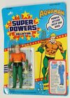 Vintage Super Powers AQUAMAN MOC USA Card Kenner 23 BACK Series 2 CLEAR BUBBLE