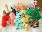 TY BEANIE babies lot of 15 all with tags bear erin hawaii inky snort woodstock