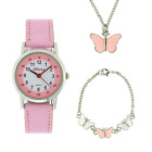 Girls Set, Butterfly Watch and Jewellery Set, Girls Gifts The Olivia Collection