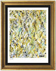 Jackson Pollock Rare Signed  Hand Number Ltd Ed Winter Rhythm Lithounframed