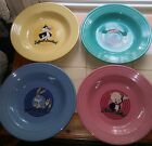 Retired Rare Warner Brothers 4 Piece Fiestaware Bowls Amazing!